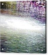 Whirlpool Of Water Suds Acrylic Print