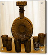 Whiskey Decanter In Sepia Acrylic Print