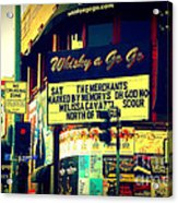 Whisky A Go Go Bar On Sunset Boulevard Acrylic Print