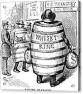 Whisky Ring Cartoon, 1875 Acrylic Print
