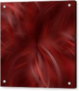 Whispy Red And White Acrylic Print
