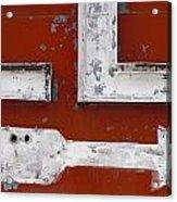 White Arrow On Motel Sign Acrylic Print