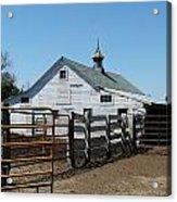 White Barn  And Corrals Acrylic Print