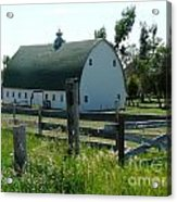 white barn in ND Acrylic Print