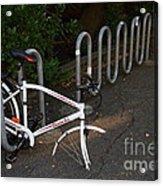 White Bicycle . 7d10119 Acrylic Print