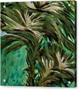 White Bird Of Paradise Tree Acrylic Print