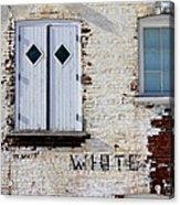 White Brick Acrylic Print