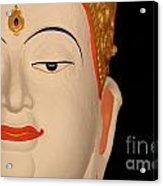 White Buddha Face Acrylic Print