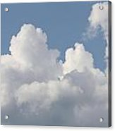 White Clouds With Blue Sky Acrylic Print