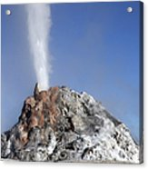 White Dome Geyser Erupting, Upper Acrylic Print