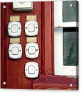 White Doorbells Acrylic Print