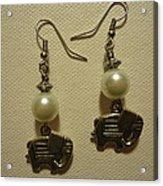 White Elephant Earrings Acrylic Print by Jenna Green