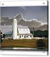 White Farm Acrylic Print