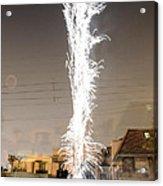 White Fireworks Acrylic Print