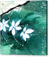 White Flowers Acrylic Print by Anil Nene