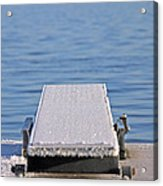 White Frost Diving Board Acrylic Print