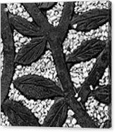 White Gravel And Wrought Iron Acrylic Print