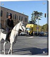 White Horse In Bethlehem Street Acrylic Print