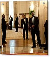 White House Butlers Watch As President Acrylic Print