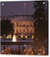White House, From Elipse At Christmas Acrylic Print