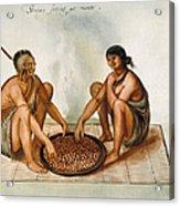 White: Native Americans Eating Acrylic Print