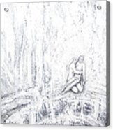 White Pieta Acrylic Print