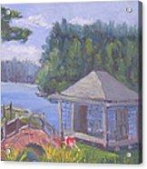 White Pine Camp Tea House Acrylic Print