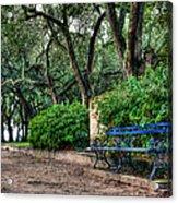 White Point Gardens Bench Acrylic Print by Jenny Ellen Photography