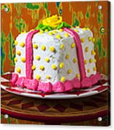 White Present Cake Acrylic Print