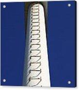 White Pylon With Ladder Acrylic Print