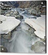 White River Rapids Arthurs Pass Np Acrylic Print