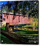 White Rock Bridge Acrylic Print
