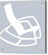 White Rocking Chair Acrylic Print by Naxart Studio