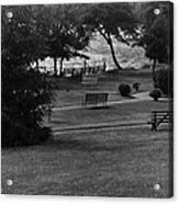 White Roe Lake Hotel - Livingston Manor Ny - Lawn To Lake Acrylic Print