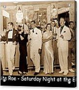 White Roe Lake Hotel-livingston Manor-saturday Night At The Bar Acrylic Print