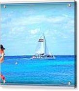 White Sails Acrylic Print by Danielle  Parent