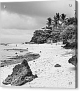 White Sand Beach Moal Boel Philippines Bw Acrylic Print