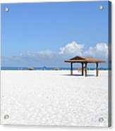 White Sands Of Siesta Crescent Beach Acrylic Print
