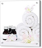 White Spa Acrylic Print