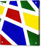 White Stripes 2 Acrylic Print