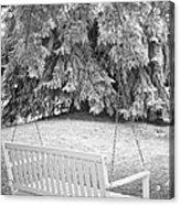 White Swing Black And White Acrylic Print