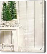 White Tree Lights  Acrylic Print