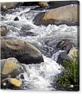 White Water Composition Acrylic Print