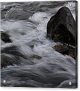 White Water Rushes Over Rocks Acrylic Print