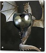 White Wine Dragon Acrylic Print