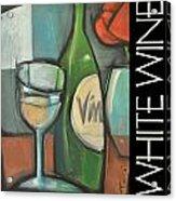 White Wine Poster Acrylic Print