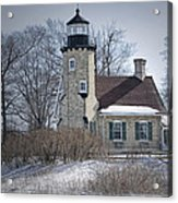 Whitehall Lighthouse In Winter Acrylic Print