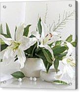 Whites Lilies Acrylic Print