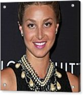 Whitney Port Wearing An Erickson Beamon Acrylic Print