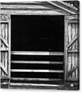 Who Opened The Barn Door Acrylic Print by Teresa Mucha